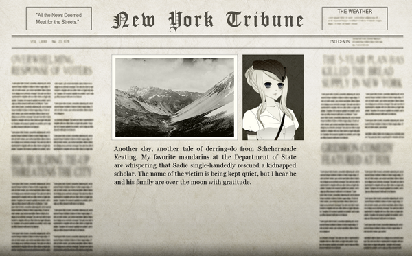 The Stolen Scholar Adventure Newspaper
