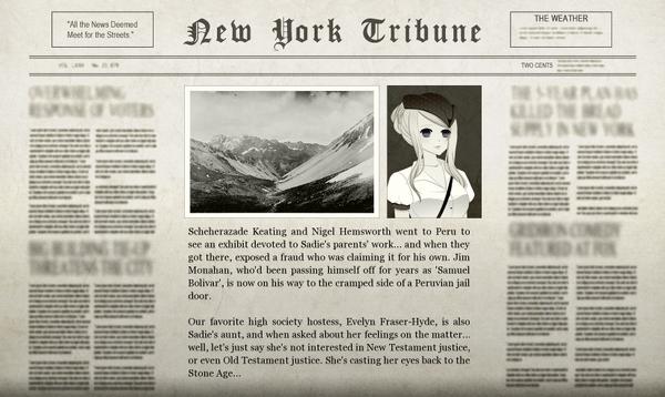 Nigel Peruvian Adventure Newspaper