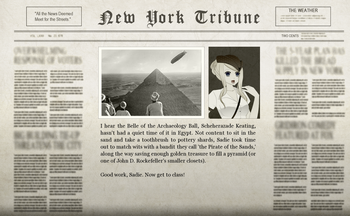 Ahmose Egyptian Adventure Newspaper