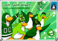 Join Team Green postcard