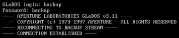Glados login backup
