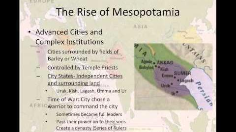 World History Lesson 1- Mesopotamia