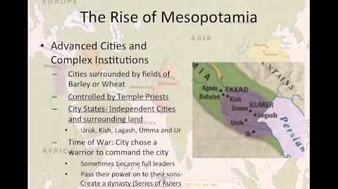 World History Lesson 1- Mesopotamia