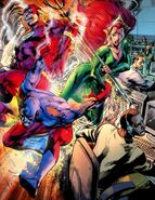 Barry Allen Ray Palmer and Mera