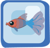 Fish Red & Blue Fantail Guppy