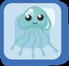 Fish Blue Glowing Jellyfish