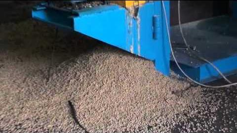 Wet type fish feed extruder working,fish feed pellet making