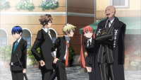 Ep1 Arcana Famiglia celebrating their victory