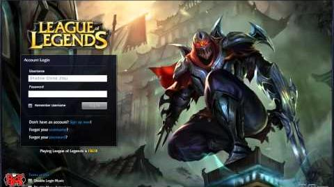 Zed Login Screen Animation and Music