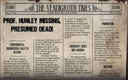 Prof. Hunley Missing Presumed Dead!