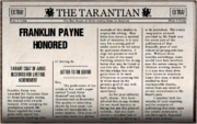 Franklin Payne Honored