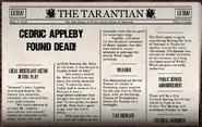 Cedric appleby found dead!
