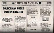 Counilman urges war on caladon!