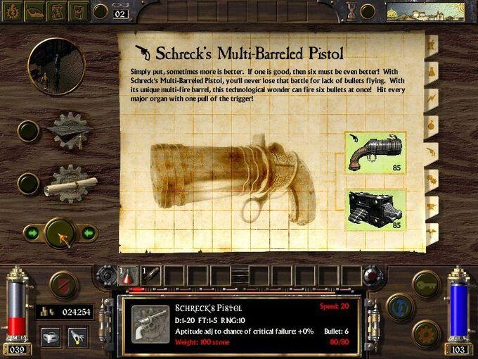 Schreck Multi-Barreled Pistol