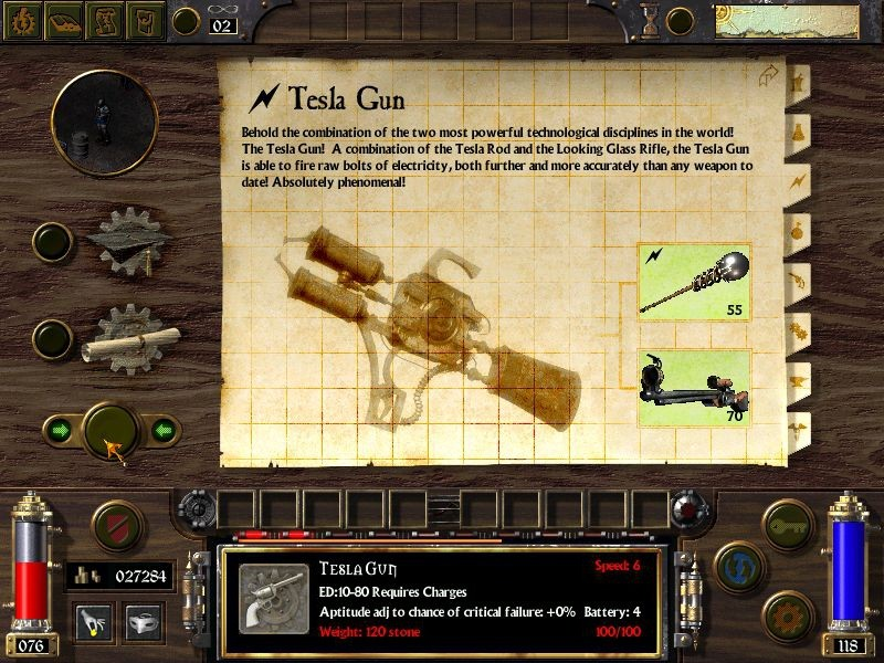 Tesla Gun | Arcanum: Of Steamworks and Magick Obscura Wiki