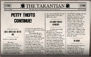 Petty Thefts Continue!