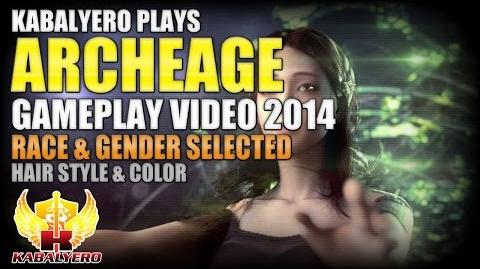 ArcheAge Gameplay 2014 Video ★ Race & Gender Selected ★ Hair Style & Color