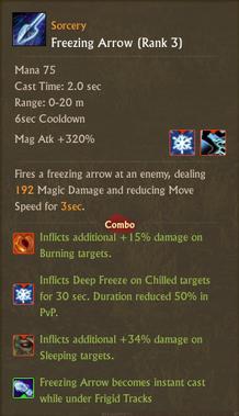 Freezing arrow