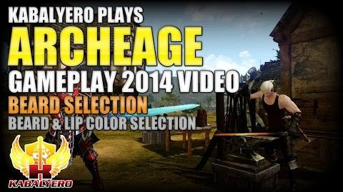 ArcheAge Gameplay 2014 Video ★ Beard Selection ★ Beard & Lip Color Selection
