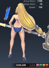 Summer Valle 3D In-Game Model Back Clear Colour