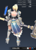 Default Valle 3D In-Game Model Back Clear Colour