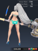 Summer Valle 3D In-Game Model Back Colour 2