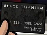 ISIS Black Titanium Credit Card