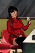 Lana Scarlet Red Dress S1E10
