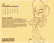 S C Pencil Sally Calendar by E 122 Psi