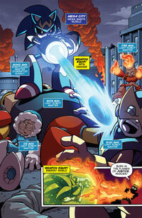 Sonic Man fights Robot Masters