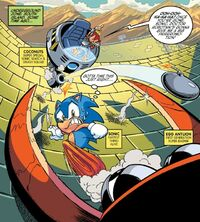 Classic Coconuts fights Sonic
