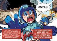 Mega Man Reacts to Falling Light