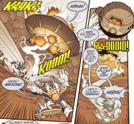 Sonic defeats Eggman in Lupe's past