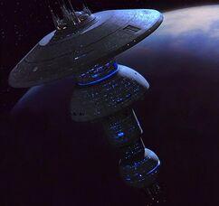 Titan-class orbital docking facility
