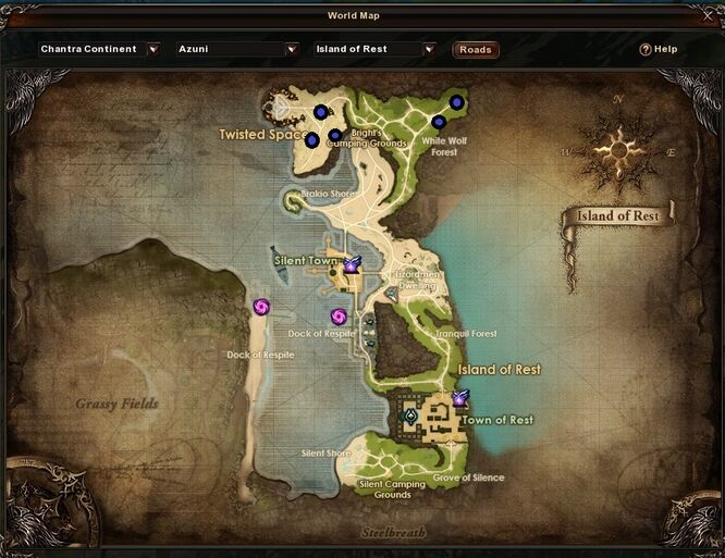 Island of Rest Faint Earth Ether Locations