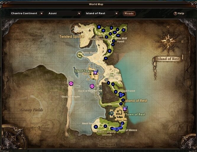 Island of Rest Ent's Tears Locations