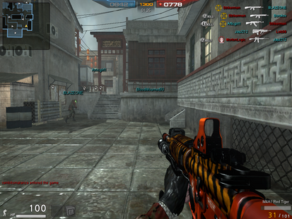 M4A1 Red Tiger In Game