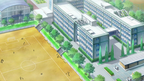 Enoshima High School (Bird's view)