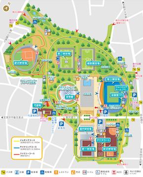 Komazawa Olympic Park - Complex map