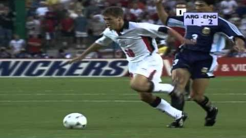 Michael Owen Goal - Argentina vs. England (FIFA World Cup 98)