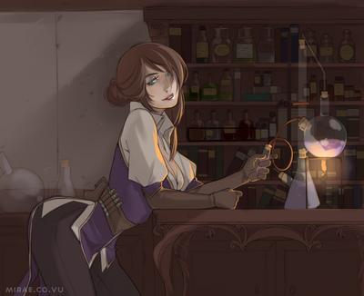 The potion shop by miruae-d9szre6