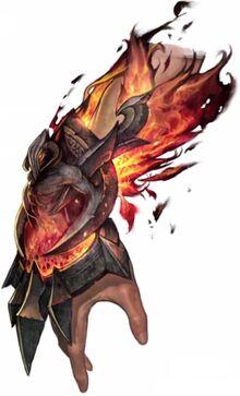 Fire God's Vambraces concept art