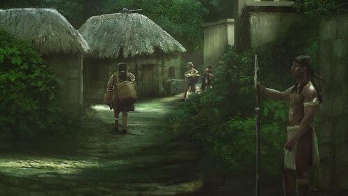 Aztecs Village artwork