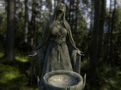 Skyrim mara in ancient stone forest by jeclxohko-d68qvqq