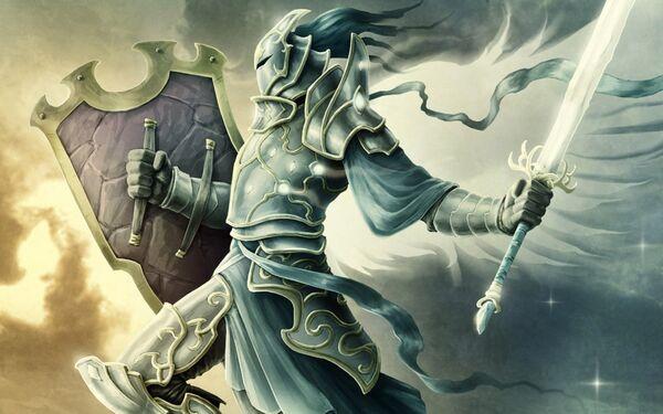 Warriors-shields-swords-wings-angels