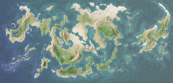 Fantasy World Map 01 by Paramenides MapStock