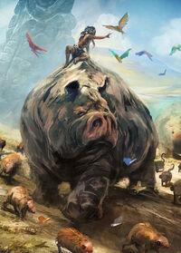 Video games tribal animals fantasy art hippopotamus creatures from dust 1920x1080 wallpaper www.artwallpaperhi.com 38