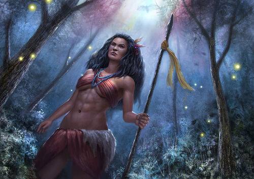 Pocahontas the huntress princess by reffelia-d77kl94