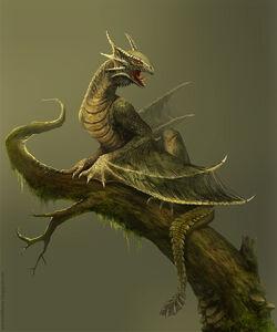 Amfisbena forest dragon by telthona-d4sptnr
