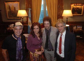 Cristina Fernandez y Soda Stereo